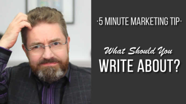 What should I write about ?