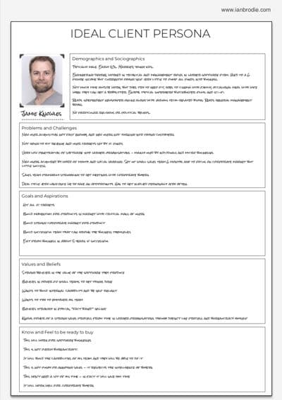 Example Ideal Client Persona
